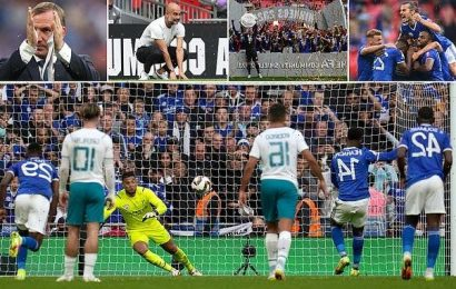 Leicester 1-0 Man City: Foxes win Community Shield at Wembley
