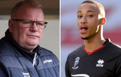 Lincoln star Cohen Bramall suffers alleged racist abuse at Gillingham as boss Evans says fan 'banned for life' if guilty