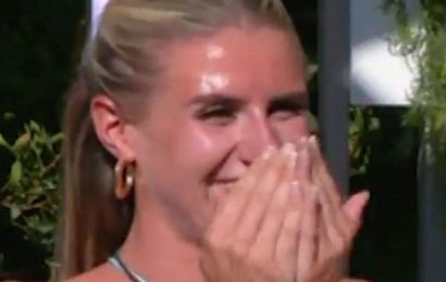 Love Island's Chloe Burrows left cringing as sister jokes about villa sex with Toby
