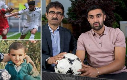 Maziar Kouhyar is first Afghan to play football in Britain but says he would be killed by Taliban if he went home