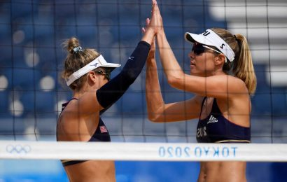 One American team left standing in controversial Olympic beach volleyball tournament