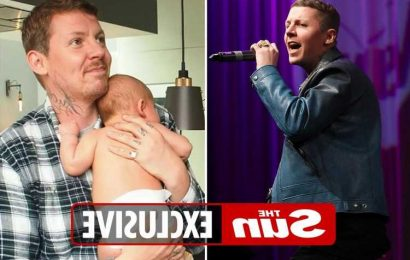 Professor Green claims 'baby brain' is making him forget lyrics onstage 5 months after Karima McAdams gave birth to son