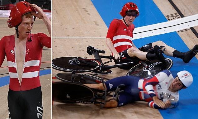 Team GB dumped out of men's team pursuit after bizarre crash
