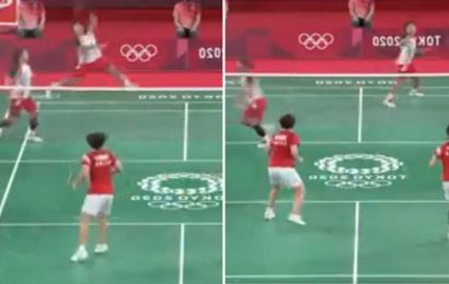 Tokyo Olympics: Watch badminton star run off court MID-RALLY to change racket and amazingly still win point