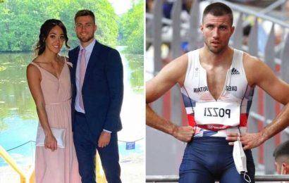 Who is Andrew Pozzi and how long has he been dating Katarina Johnson-Thompson?
