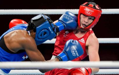 Why do women wear headguards but not men in Olympic boxing?