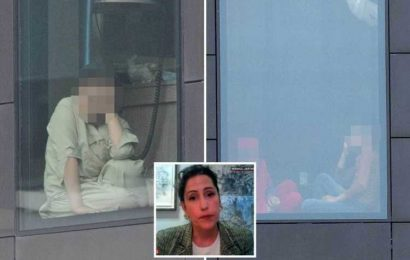 Afghan refugees pictured in quarantine hotel rooms as minister admits there's not enough room to house all 15,000