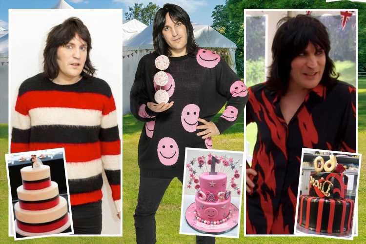 Bake Off presenter Noel Fielding serves up yet another cake-inspired outfit
