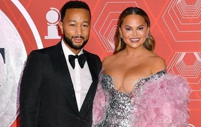 Chrissy Teigen Stuns In Plunging Silver Dress At Tony Awards With John Legend — Photos