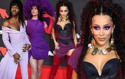 Doja Cat, Lil Nas X and Kacey Musgraves turn heads in purple at VMAs