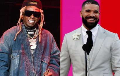 Drake and Lil Wayne party to their own music at private birthday bash