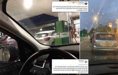 Drivers CHASE fuel tankers and queue from 5am to fill-up