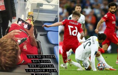 Harvey Elliott says Struijk tackle NOT a red card and reveals he watched end of Liverpool win on his phone in ambulance