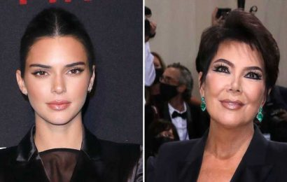 LOL! Kris Jenner Asks Kendall to Tie Her Shoe at the Met Gala: Photo