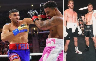 Logan Paul says he made Tommy Fury's last opponent quit in sparring and Love Island star will get 'murdered' vs Jake