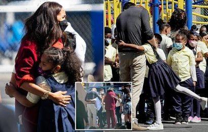 Meghan and Harry hug hordes of kids during visit to Harlem school