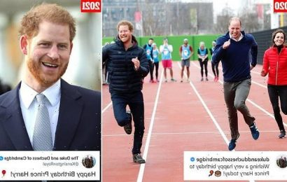 Prince William's 'curt' message to Prince Harry on his birthday