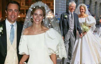 Princess Maria Anunciata of Liechtenstein marries Emanuele in 'Diana inspired' dress