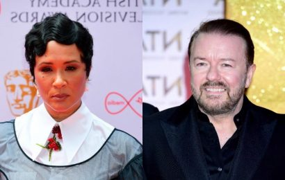 Ricky Gervais, 'Bridgerton' queens Golda Rosheuvel and Julia Quinn Set to Appear at Netflix 'Stories Festival' in London