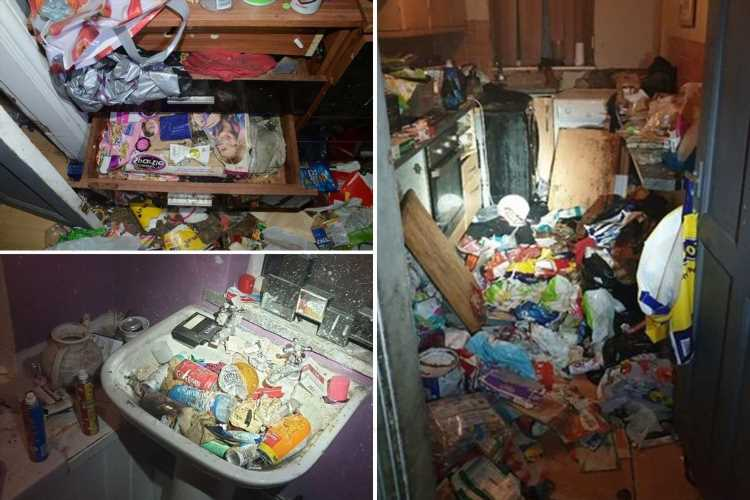 Six children found living in horrific 'Victorian slum' surrounded by mountains of rubbish and dog poo