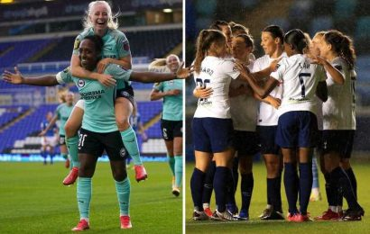 Taylor slams 'contentious' goal decision after Tottenham stun Man City, Brighton go top and Arsenal's Mead impresses