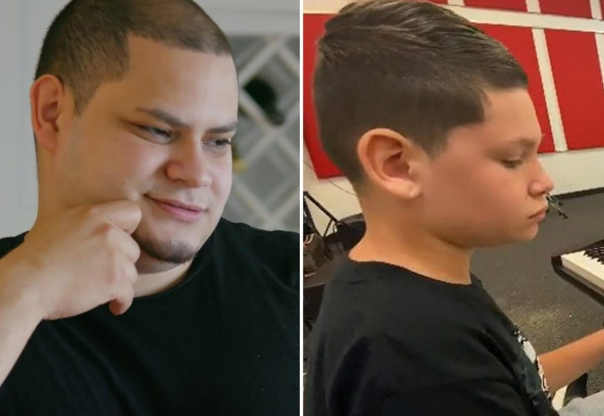 Teen Mom Kailyn Lowry's fans think her son Isaac, 11, looks 'just like' dad Jo Rivera as preteen shows off piano skills