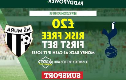 Tottenham vs NS Mura – Claim £20 risk FREE BET on Europa Conference League clash, plus 42/1 Paddy Power special