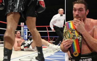 Tyson Fury was first knocked down by unknown Neven Pajkic, who claims world champ has an 'ugly face' – The Sun