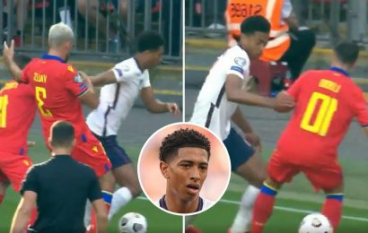 Watch Jude Bellingham's outrageous skill for England against Andorra as fans go wild for 'baller' who 'will be captain'
