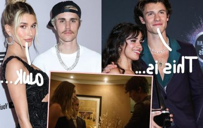 Watch Rumored Exes Shawn Mendes & Hailey Bieber Endure The Most 'Awkward' Run-In At The Met Gala!