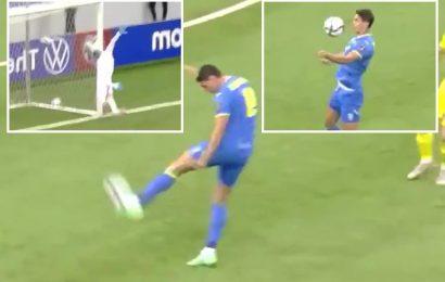 Watch ex-Arsenal transfer target Yaremchuk score stunning 30-yard volley in Ukraine's World Cup qualifier vs Kazakhstan