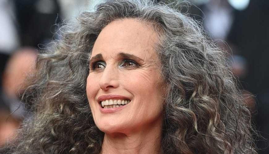 Andie MacDowell Knows Her Gray Hair Belongs on the Red Carpet