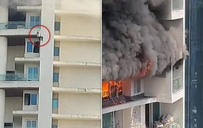 At least one dead as fire breaks out in high rise block in India