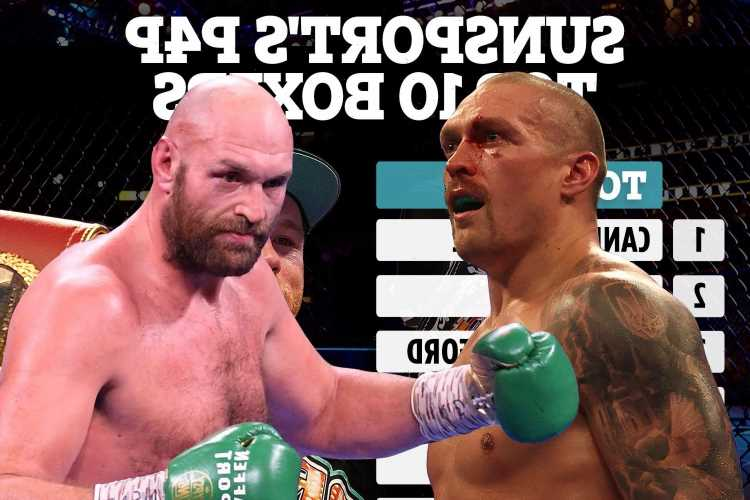 Best pound for pound boxers revealed with Tyson Fury jumping up the list and Usyk leapfrogging Joshua