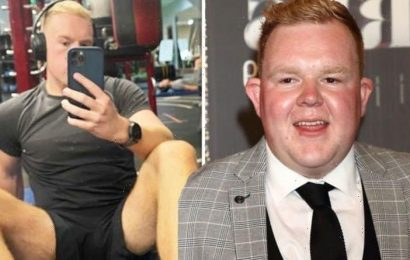 Corrie star Colson Smith unveils toned gym body after impressive 10 stone weight loss