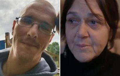 Heartbroken mum sobs after son stabbed to death by ex-partner's rampaging new lover