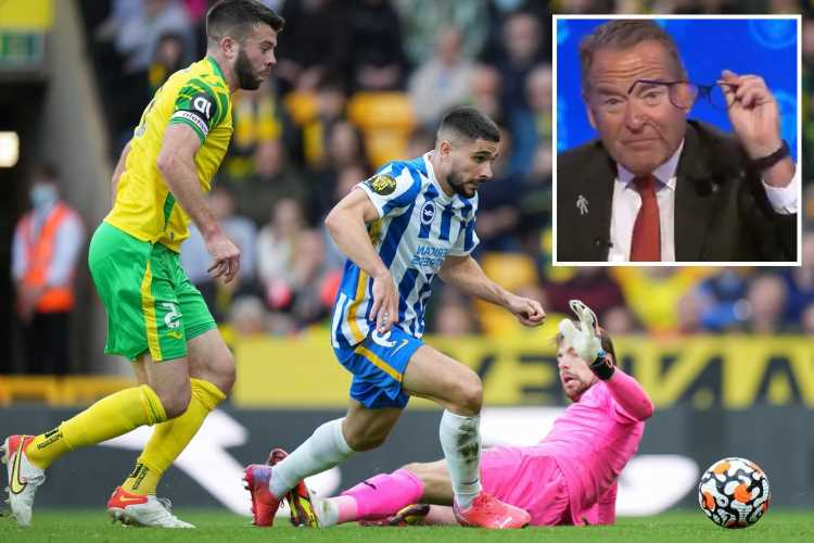 Jeff Stelling goes ballistic on Sky Sports at VAR officials after Brighton denied clear penalty against Norwich