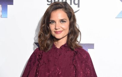 Katie Holmes is makeup-free and glowing in flared jeans following night out with daughter Suri