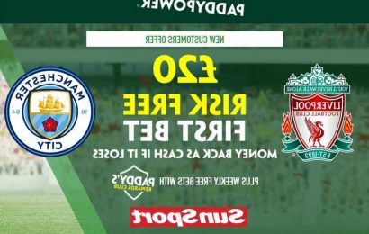 Liverpool vs Man City – Claim £20 risk FREE BET on Premier League clash, plus 81/1 Mohamed Salah prediction special