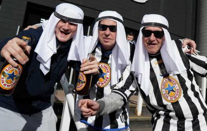 Newcastle urge fans to STOP wearing Arabic clothing 'if they would not ordinarily wear such attire' after backlash