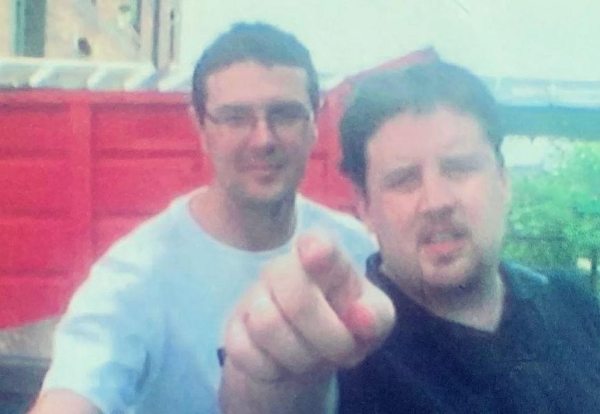 Peter Kay looks totally different with goatee in throwback with Paddy McGuinness