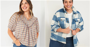Sorry, Solids, We're Fully Committed to a Plaid Romance For Fall Thanks to These Old Navy Tops
