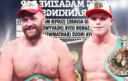 Tyson Fury SNUBBED from Ring Magazine's pound-for-pound rankings despite incredible Deontay Wilder KO with Canelo top