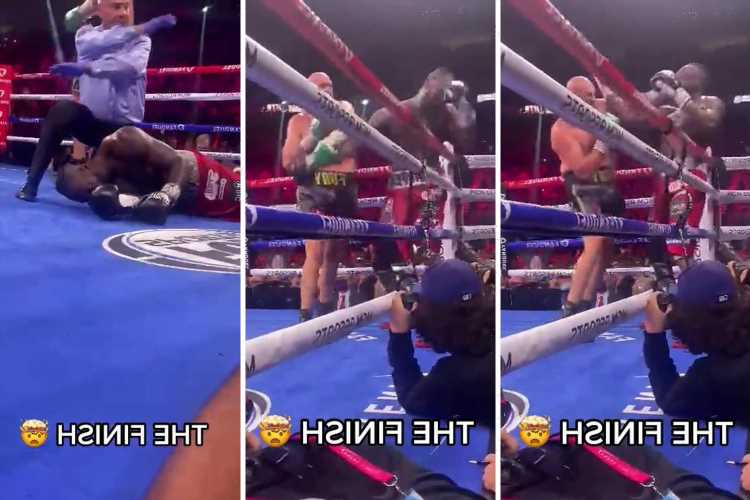 Watch stunning new ringside footage inches away from Tyson Fury as he KOs Deontay Wilder with brutal right hook
